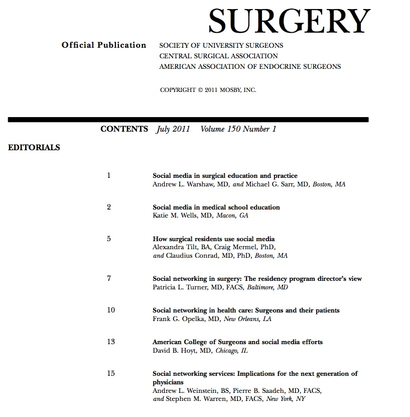 Surgery contents